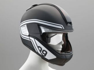 Motorcycle Helm dispaly BMW