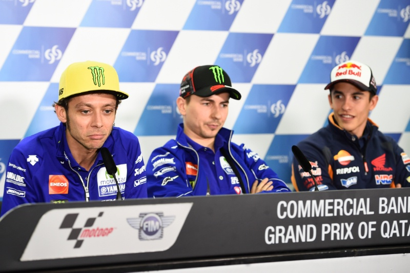Press Conference Qatar 2016 Rossi Marc Jorge